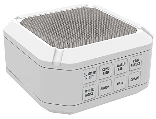 (Big Red Rooster Portable White Noise Sound Machine | Sound Machine For Sleeping & Relaxation | 8 Natural & Soothing Sounds | Operates On 3 AA Batteries | Sleep Sound Therapy for Home, Office or Travel)