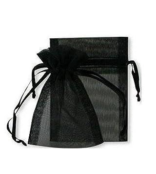 Eamooeahisshee rectangulaire Noir pur Fil Sac Candy Sac de rangement Petit sac à fil 90* 70mm 20 黑色