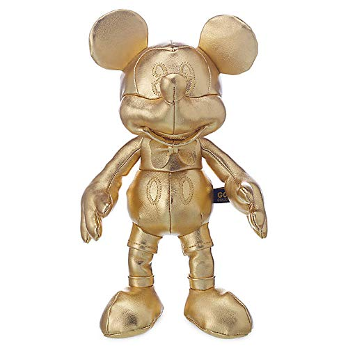 Official Disney 90th Anniversary Mickey Mouse Gold Collection 25cm Bean Bag Soft Toy