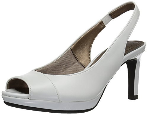 LifeStride Women's Invest Dress Sandal, White, 8 M US