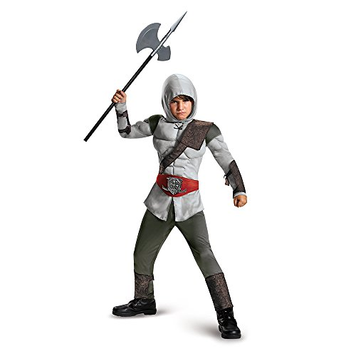 Disguise 85339L Nomad Hunter Muscle Costume, Small (4-6) (Assassin Halloween Costumes)