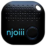 Njoiii Bluetooth Key, Phone, Anything Finder for Your Items with Replaceable Battery, Black