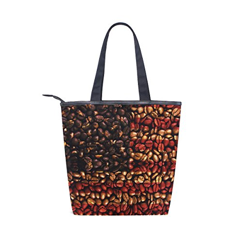 Beans USA Womens Shoulder Canvas MyDaily Handbag Coffee American Flag Tote Bag P8FqIw