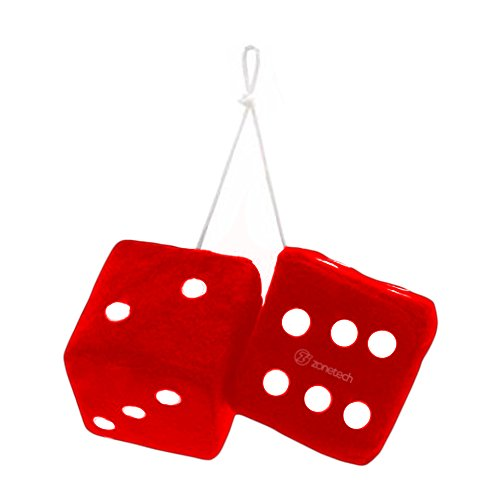 Zone Tech Red Hanging Dice- A - Usa Shipping Free Shopping Online