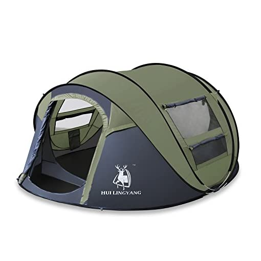 HuiLingYang-Outdoor-Instant-4-Person-Pop-Up-Dome-Tent-Easy-Automatic-Setup-Ideal-Shelter-for-Casual-Family-Camping-Hiking