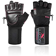 skott 2018 Evo 2 X-Edition Weightlifting Gloves with Integrated XL Wrist Wrap Support - Double Stitching for Extra Durability - The Best Body Building Fitness and Exercise Accessories