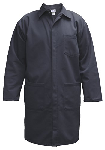 National Safety Apparel C09UPLCLG42 UltraSoft Lab Coat, 88% Cotton, 12% Nylon FR, Large, Navy by National Safety Apparel Inc