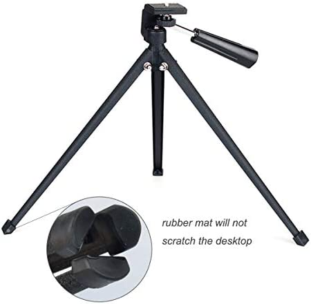 GUANGXI Tabletop Tripod with Mount Adapter Portable Compact Tripod Folded Tripod for Spotting Scopes Monocular Binocular Medium-Sized Telescopes