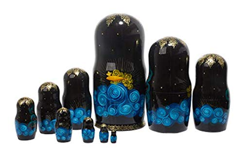 Golden Cockerel Authentic Russian Gold Fish Fairy Nesting Doll Collectible 10pc / 10'' Matryoshka by Golden Cockerel (Image #3)