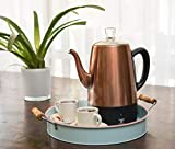 Moss & Stone Electric Coffee Percolator | Silver
