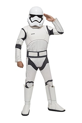 Star Wars VII: The Force Awakens Deluxe Child's Stormtrooper Costume and Mask, (13 Year Old Boy Halloween Costumes Ideas)