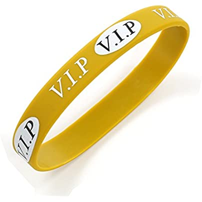 Komonee VIP Gold Silicone Wristbands Pack Estimated Price £4.99 -