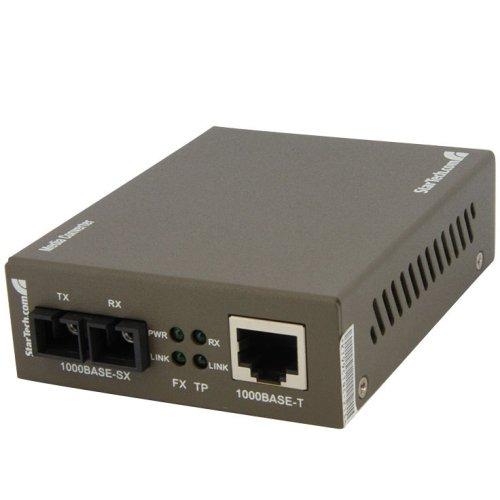 Startech.Com 1000 Mbps Gigabit Multi Mode Fiber Ethernet Media Converter Sc 550M - 1 X Rj-45 Network ''Product Category: Network & Communication/Transceivers/Media Converters''