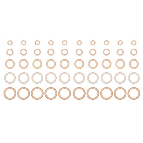 Prettyia 50 Pack 30mm - 70mm Assorted Natural Wood Loop Wooden Rings Bracelet DIY Crafts Natural Round Beads Connectors Circles Rings Jewelry -