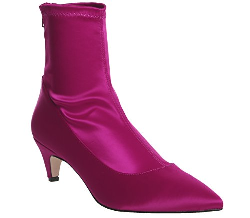 Pink Atomic Women's Satin Office Boots Hot xSUA4wwnHq