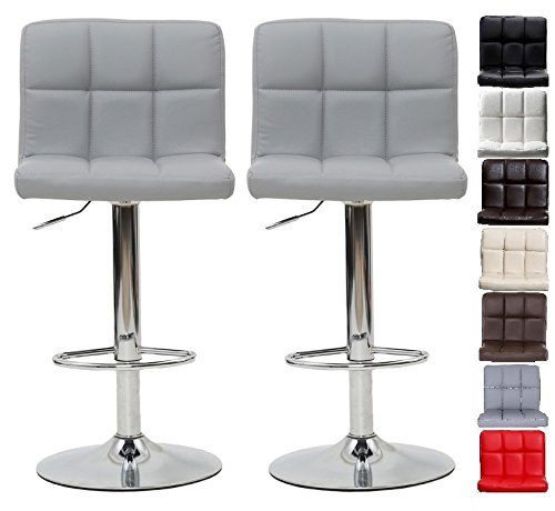 Songmics 2 X Breakfast Bar Stools With Backs Faux Leather