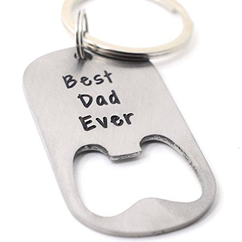 Custom Bottle Opener Keychain - Best Daddy Ever Personalized Bottle Opener Keychain - Father's Day Gift - Custom Stainless Steel