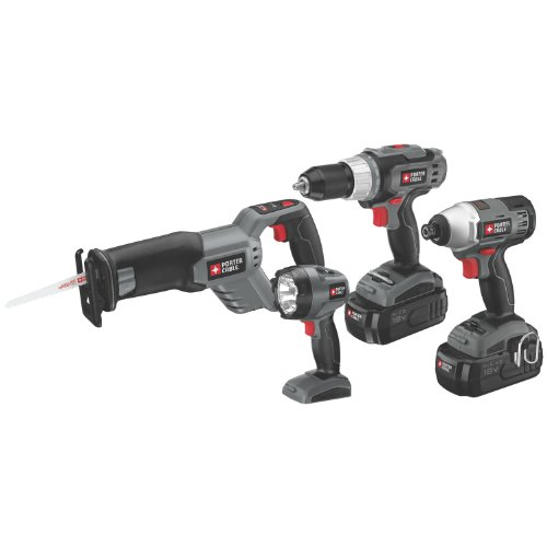 PORTER-CABLE PC418IDC-2 18-Volt NiCd 4-Tool Combo Kit