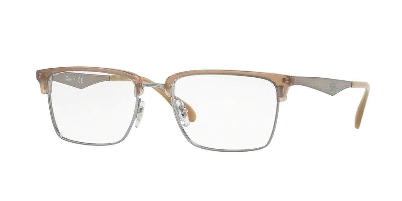 4f8cfc2dfcb Amazon.com  Ray-Ban Unisex RX6397 Eyeglasses Gunmetal 54mm  Clothing