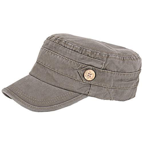 Mens 100% Cotton Flat Top Running Golf Army Corps Military Baseball Caps Hats