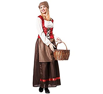 Disfraz de Posadera Medieval para mujer: Amazon.es: Juguetes ...
