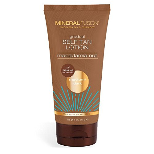 MINERAL FUSION Macadamia nut gradual self tan lotion Medium/Dark, 5 Ounce (Best Smelling Gradual Self Tanner)