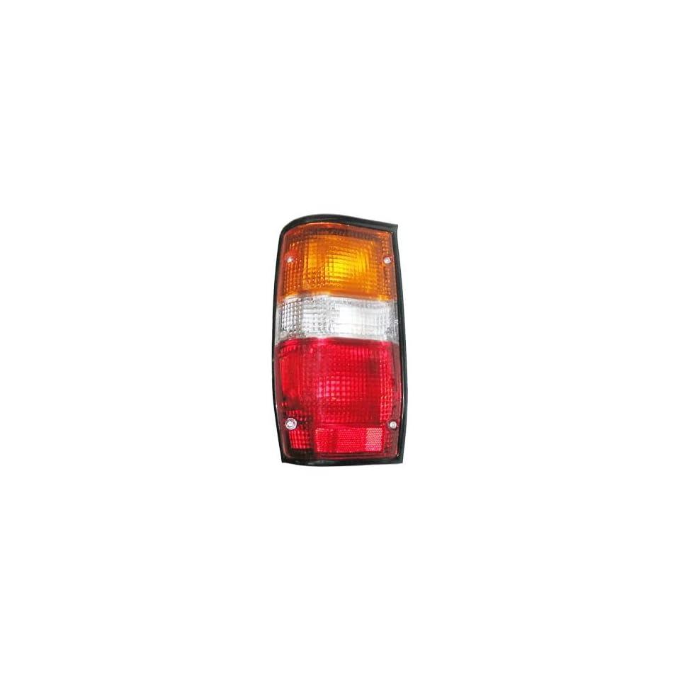 87 93 Dodge Ram 50 Tail Light Lamp Assy Black Trim LEFT