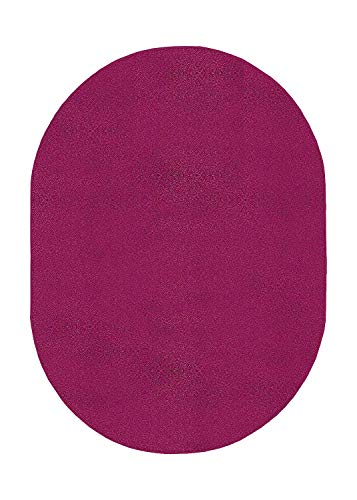 Amazon Com Bright House Solid Color Oval Shape Area Rugs