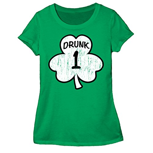 St. Paddy's Day Drunk 1 Juniors Green T-shirts