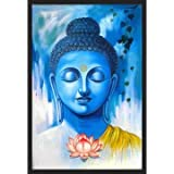 Giant Innovative Lord Buddha Religious Wall Decor Poster for Home and Office GI157 (250 GSM Paper, 12 x 18 Inch, Multicolour)