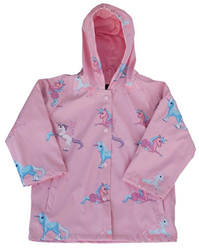 (Foxfire for Kids Girls Pink Unicorn Raincoat Size)