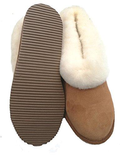 chaussons enfants garçons camel fourrés peau de mouton - tannage naturel - 24