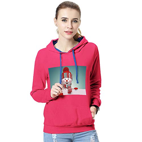 GREFER Women Hooded Sweatshirt Autumn Winter Christmas Print Long Sleeve -