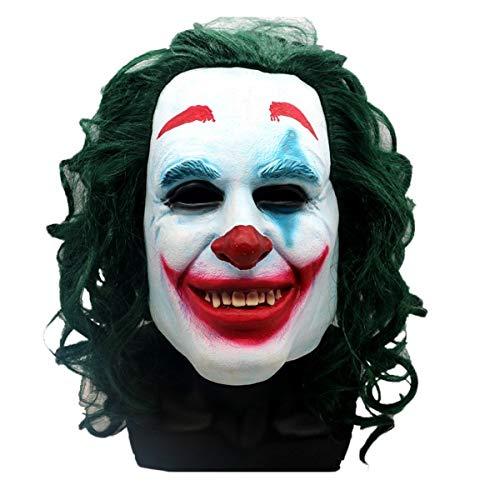 2019 Movie Costumes (Joker Mask 2019 Todd Phillips Movie Joaquin Phoenix - Cosplay Halloween Costume - Scary Clown Mask)