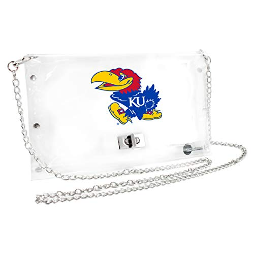 Littlearth Kansas Jayhawks  NCAA Envelope Purse, Clear  - 10 x 0.5 x 6.5 - Inch