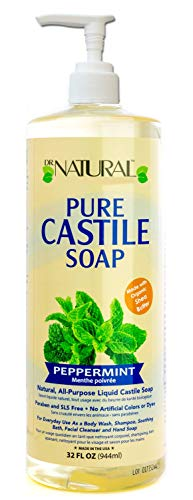 Dr. Natural s Pure-Castile Liquid Soap -Peppermint 32oz. 6 pack
