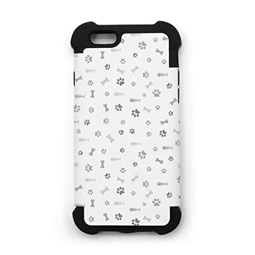 PPLYS iPhone 7/8 Plus Case Dog paw Print Dog Bone Fish Bone