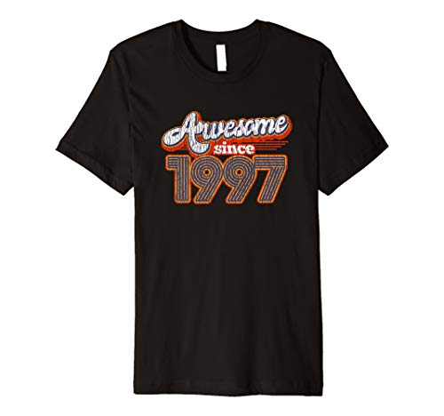 (Vintage Awesome Since 1997 22nd Birthday Gift 22 Years Old Premium T-Shirt)