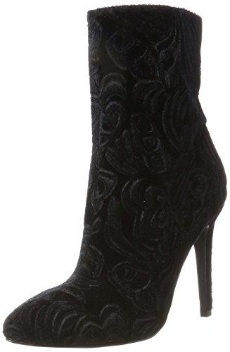 Stiletto Stivali Bootie black Donna Nero Bianco 10 Samt HwPvq5xx6 1abb1c6623ae