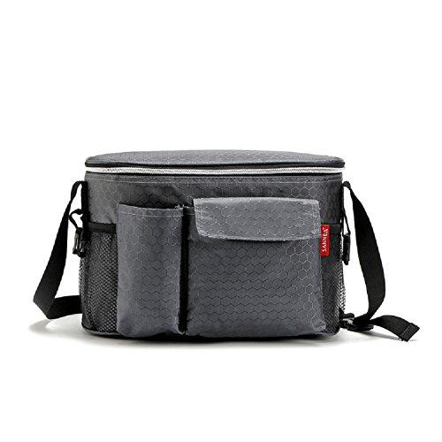 Yvonnelee Büro Mittagessen Tasche Lunchtasche Thermotasche Kühltasche Isoliertasche für Lebensmitteltransport Isoliert 8 Liter Klein - Grau