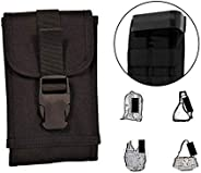 Clakit CL04101 Smartphone Strappack Specialty with Clip Front, Black, X-Large, 1 Count X-LargeBlack