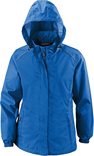 ZUZIFY Ladies Seam-Sealed Waterproof Hooded Rain Jacket. KZ0569 2XL True Royal by ZUZIFY (Image #1)