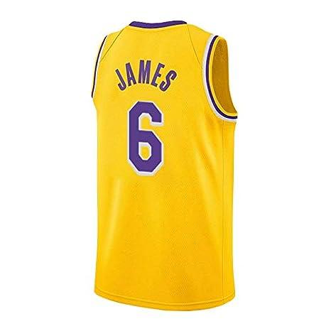 runvian Camiseta de Baloncesto para Hombre, NBA Lakers #6 Lebron ...
