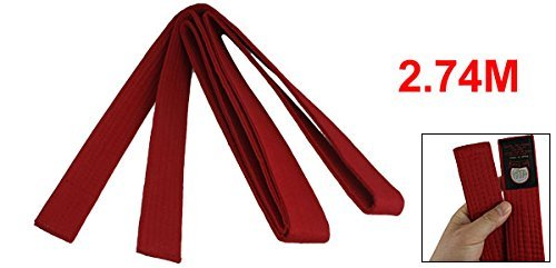 Ceinture Taekwondo 9FT long Dark Red Flexible Judo Karaté qXBxFpwCp