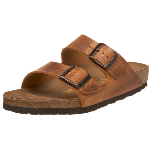 Birkenstock Unisex Arizona Sandal,Antique Brown Leather,37 M EU