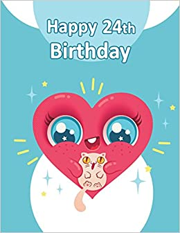 happy 24th birthday fun book to use as notebook personal journal