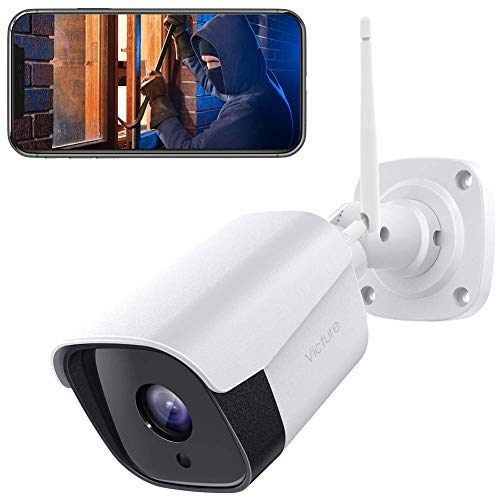 🥇 Victure 1080P Wireless Outdoor Security Camera 2.4G Bullet WiFi Security Camera with IP66 Weatherproof Motion Detection Night Vision 2-Way Audio Compatible with iOS/Android System