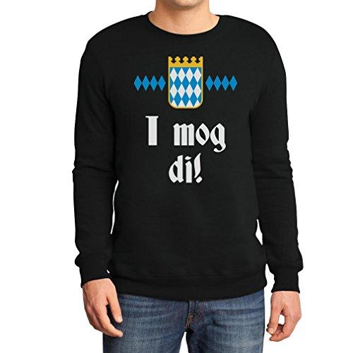 I mog di! Bayrischer Ausdruck fürs Oktoberfest Sweatshirt Medium Schwarz