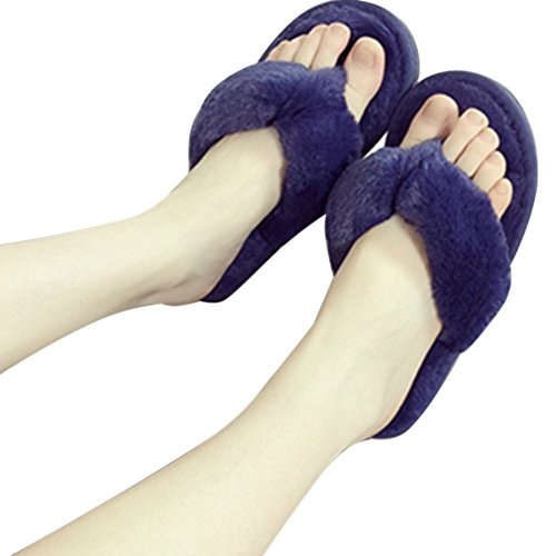 Antiscivolo morbide Infradito da Calde Pantofole Donna Blu 5 in Colori Ancoz Xa5nfxx