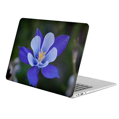 Colorado Columbines Design - MacBook Pro 13-Inch with Retina Display (Model A1425/A1502) - FULL BODY HARD CASE - Earth Columbine Flowers Flower Blue Flower Colorado Blue Columbine Close